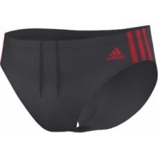 adidas 3-Stripes Trunk - Dark Grey/Red