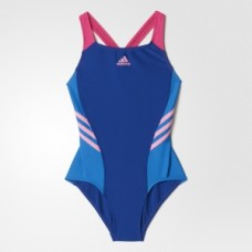 adidas Colour Block Swimsuit - Blue/Pink