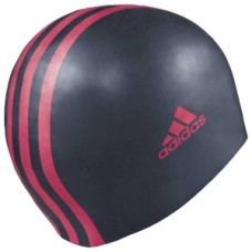 3 Stripe Silicone Cap - Navy/Red