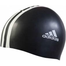 3 Stripe Silicone Cap - Black/White